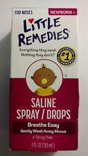 (3) Little Remedies Saline Spray/Drops 1 oz. Per Box ~3 Box Deal~ FREE SHIPPING