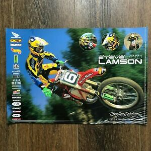 Vintage Steve Lamson Troy Lee Designs Motocross Poster Honda CR 125 DGY