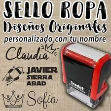 SELLO PARA ROPA - Marcador Textil Ideal Ropa Colegio, Guardería Personalizable