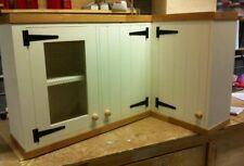 Triple Pine Rustic Kitchen Wall Unit Cupboard Cabinet Oak Pelmet Shabby Chic