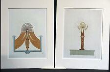 Erte Pair 1987 CIRCE and DIANA GODDESS of MAGIC and NATURE Art Deco Matted Print