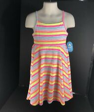 Baby Clothes Girls Dress By Lightning Bug Ecto Coral Size 2T Spaghetti Strap NEW