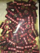 "Pacific Bearing Linear Bearing FL08 Red 1/2"" Lot of 5 with o rings"