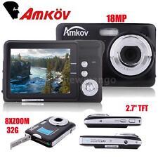 "CDFE HD Digital Camera 18MP 2.7"" TFT 8x Zoom Anti-shake Video Camcorder C2I1"