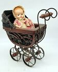 ThriftCHI ~ Vintage Baby Doll & Carriage Wicker Scrolls