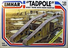 Emhar 1/35 Tadpole WWI Tank with rear mortar # 4004