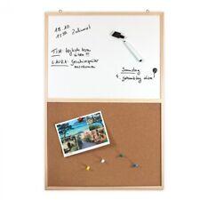 Whiteboard + Kork Pinnwand 60 x 40 cm mit Marker, Schwamm und 5 Pinnnadeln