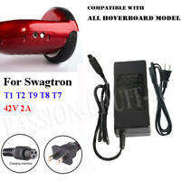 For Balancing Scooter Swagway Adapter Charger 42V 2A -SWAGTRON T1 T3 T9 T8 T7 CC