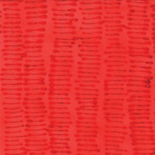 Moda ' From Outside In ' Malka Dubrawsky Poppy Red Lines Fabric Fat Quarter