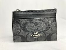 Coach ID card Case Ring Key In Signature Print Canvas