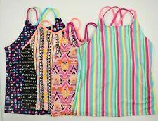 Multi Brand Girls Tank Swimsuit Swimwear Tops Lot 4 Size 12/14-16 NEW