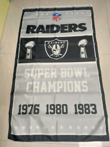 Oakland Raiders Super Bowl Champions Flag 3X5 FT Polyester NFL Football Banner