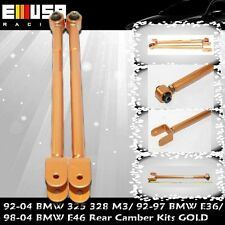 Rear Adjustable Camber Kits FOR  92-01 BMW 325/328/M3/1992-1997E36/98-04 E46GOLD