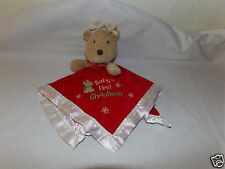 Adorable HTF Carters Baby's First CHRISTMAS Red Plush Reindeer Blanket Lovey  71