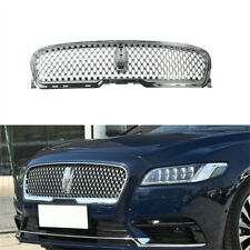 Silver Honeycomb Radiator Center Grill Grille Fit For LINCOLN Continental 17-19