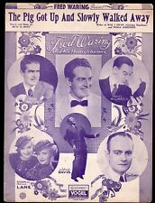 The Pig Got Up And Slowly Walked Away 1933 Sheet Music