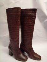 Bottes Femme Hazel Croc High boot cuir marron Neuves  valeur réelle 295£