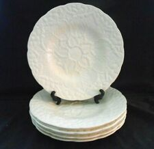"c.1935 Wedgwood Ww120 Pattern 5 White Embossed Leaf Dessert Plates 9"" Xclnt w1s7"