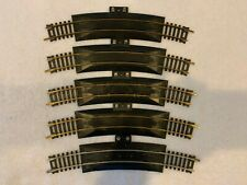 """Tyco HO Scale Lot of 5 18""""R Terminal Rerailers 4 Brass and 1 Nickel Silver"""