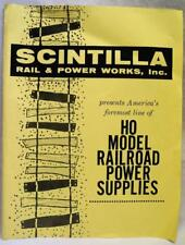 SCINTILLA HO MODEL RAILROAD POWER SUPPLIES SALES BROCHURE PRICE LIST 1950s