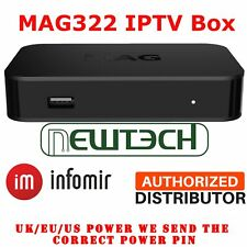 MAG322 Infomir HEVC IPTV Set Top Box Latest Model UK/US/EU Power Genuine
