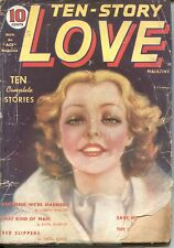 TEN-STORY LOVE  NOV 1937---ROMANCE PULP---PIN UP COVER-RARE---NEW COLLECTION