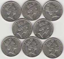 8 x 1997 Ten Cent Pieces. Nice Coins. 4th Scarcest of the 10 Cents - Free Post.