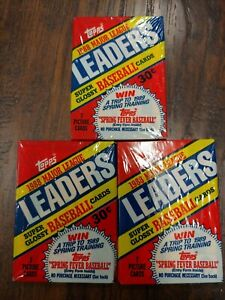 3 Topps 1988 Major League Leaders Super Glossy MLB Baseball Card Packs