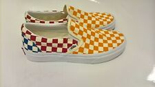 VANS Checkerboard Slip On Size 6 Multi Colour Cushion Brand New With Tag