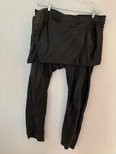 "Skingraft Mens ""Kilted"" Leather Pants. Size 36. Black. Zipper Pockets."