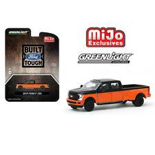 Greenlight Mijo Exclusive 1:64 2019 Ford F-350 Dually Black w/ Orange 51318