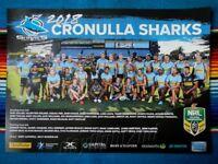 ✺New✺ 2018 CRONULLA SHARKS NRL Poster - 42cm x 29.5cm