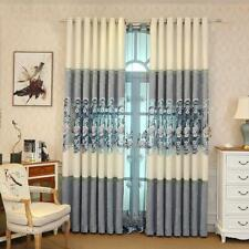 Bedroom for Living Room Luxury Curtains Elegant Mesh Stitching Romantic Blue Hot