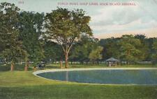 Antique Postcard c1907-20 Punch Bowl Golf Links Rock Island Arsenal Il 18701