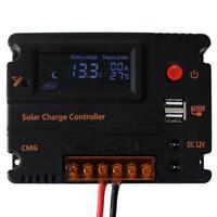 20A 12V/24V mppt LCD Solar Panel Battery Regulator Charge Controller'