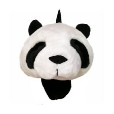 Panda Head 3D Plush Animal Backpack Knapsack Bag Black White