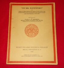SOCIETY FOR ARMY HISTORICAL RESEARCH SPECIAL PUBLICATION NO.9 1968 TO MR DAVENPO