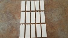 Lego White Brick 1 x 2 x 5, Part # 2454, Lot of 15