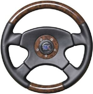 APC FAUX BURL WOOD 4 SPOKE LEATHER STEERING WHEEL NEW FORD CHEVY DODGE HOT ROD