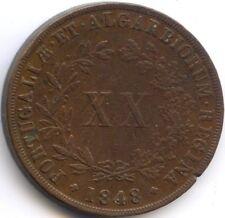 PORTUGAL MARIA II 20 REIS 1848 KM 482