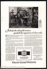 1926 GRUEN Guild Cartouche Wrist Watch Antique Print Ad w/orig price