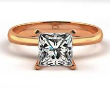 Anillos de joyería con diamantes en oro rosa de 14 quilates