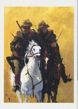 Greeting card Australian Light-horsemen man on a grey WWI  by artist PJ Hill
