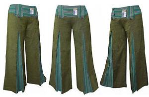 Pantalones De Mujer Verdes De Algodon Compra Online En Ebay