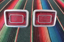 1969 1970 CHEVY IMPALA STATION WAGON TAIL LIGHTS HOUSINGS AND LENS TRIM MOULDING