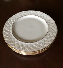LENOX JACQUARD GOLD Set of 4 Salad Plates