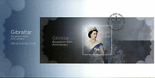Gibraltar 2017 FDC Queen Elizabeth II Accession Sapphire Jub 1v M/S Cover Stamps