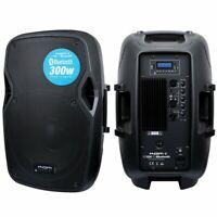 "Kam 300W 10"" Active Bluetooth Powered Speaker DJ House Party Speaker USB SD"