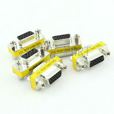 5 PCS 15 Pins HD VGA KVM SVGA DB15 Female to Female Serial Cable Coupler Adapter