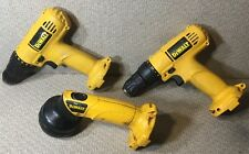 TL01 DeWALT Lot of 3 - 2 DW926 And DW904 Set Of 3 Drill Driver And Flashlight
